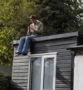 Tom on the office roof