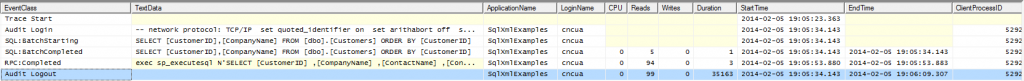 SQL Server Profiler of XML Retrieval